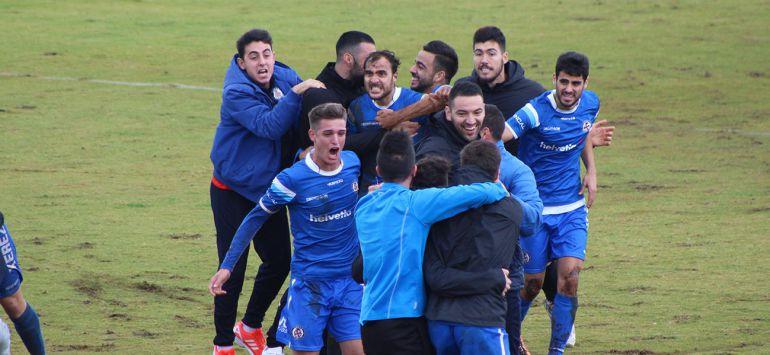 Jugadores del Xerez DFC celebrando un triunfo en Chapín