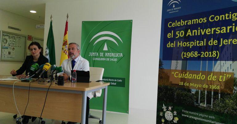 Julio Egido, director del área de Gestión Sanitaria Norte, ha presentado los actos del 50 aniversario del Hospital de Jerez