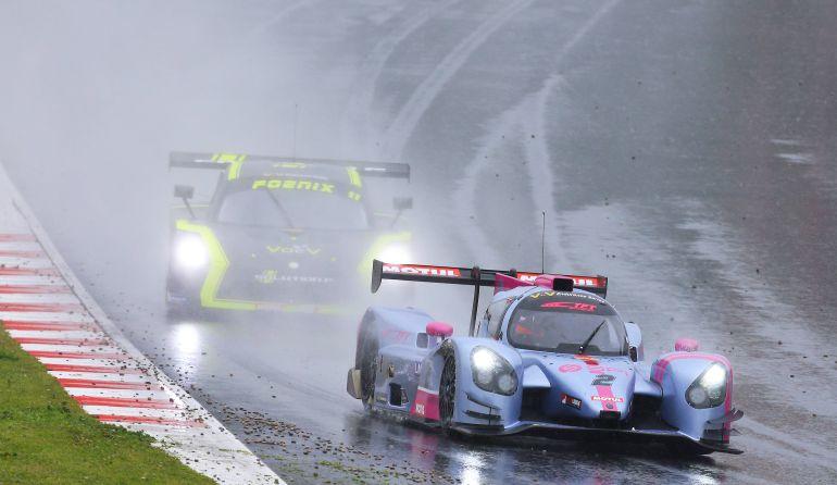 Imagen de la carrera de Barcelona, donde hubo muchas  complicaciones meteorológicas