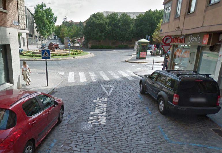 Paso de peatones de la Calle Ortiz de Paz