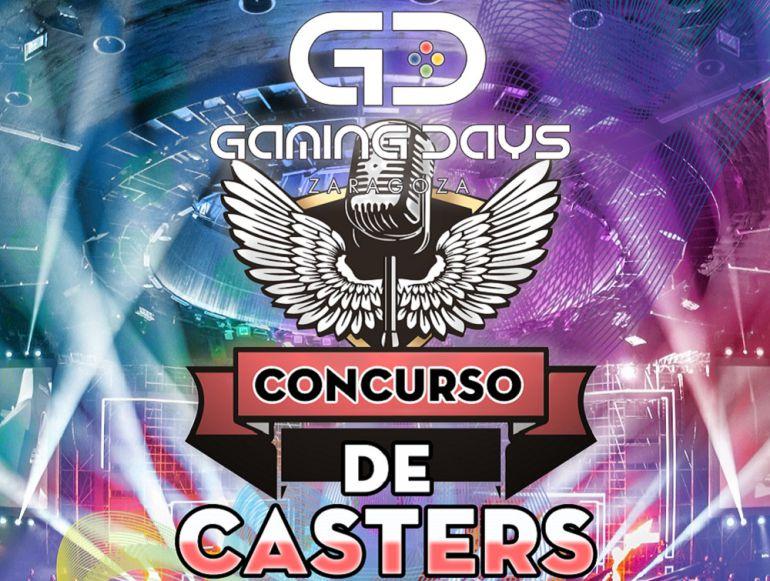 Cartel publicitario del concurso de Casters de los Gaming Days
