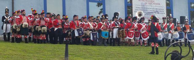 Recreación de la entrada del brigadier Fernando Casado en La Cavada (Cantabria).