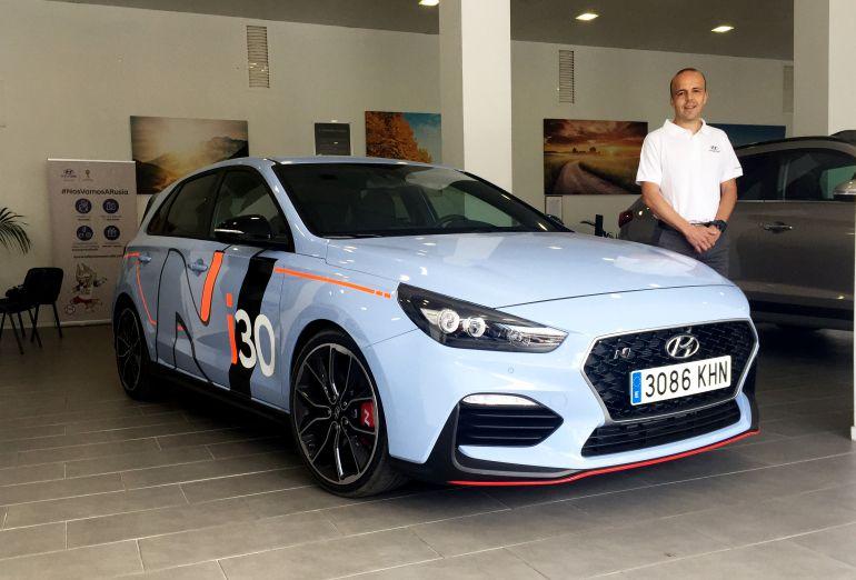 El Hyundai i30 N, coche cero del Rally Islas Canarias, bajo los mandos del piloto Juanjo Betancor