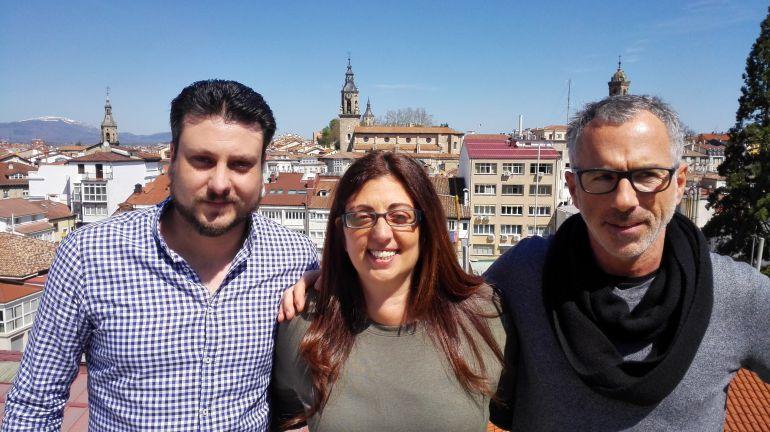 Pascual Borja, director de Gao Lacho Drom, Olga Borja y Máximo Peña de Federación Secretariado Gitano.