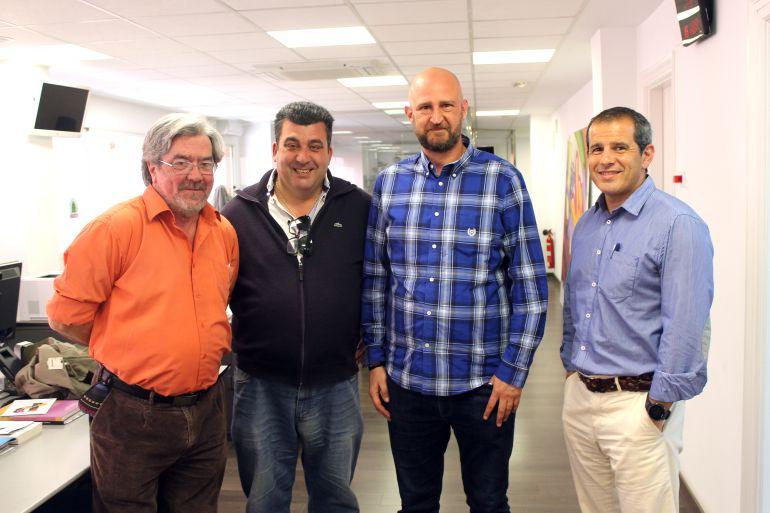 Antonio Balibrea, Luis Fernando Sevilla y Vicente Cutanda