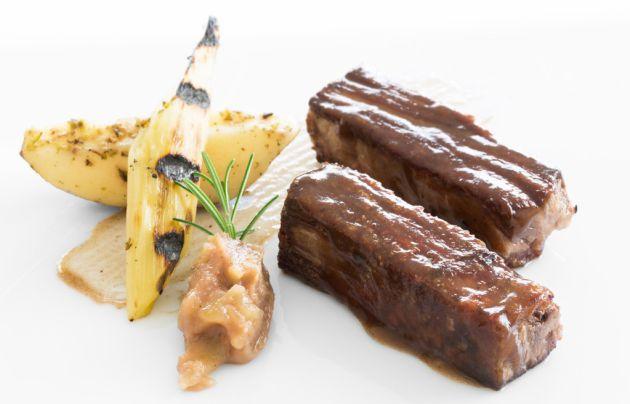Un plato de buey del España, en Lugo