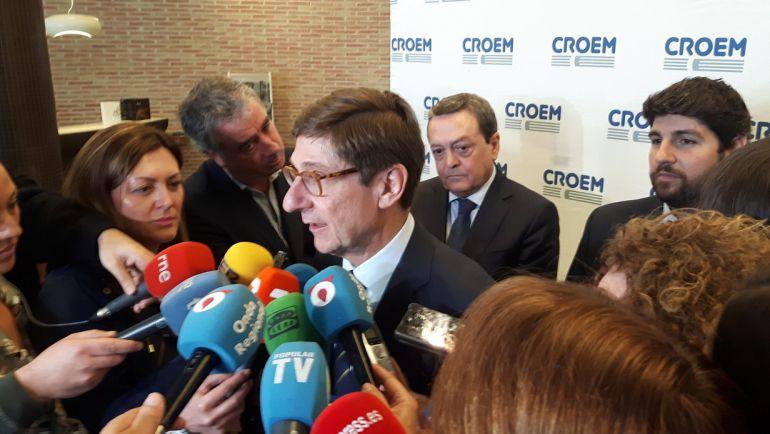 José Ignacio Goirigolzarri, presidente de Bankia, ha participado en Murcia en los actos conmemorativos del 40 aniversario de CROEM.