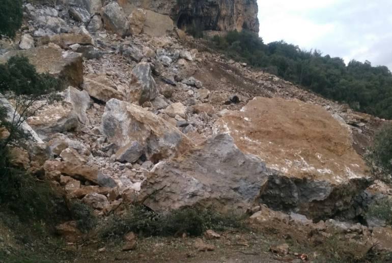 Una esllavissada de magnitud 0,8 a Castell de Mur, Pallars Jussà: Una esllavissada de magnitud 0,8