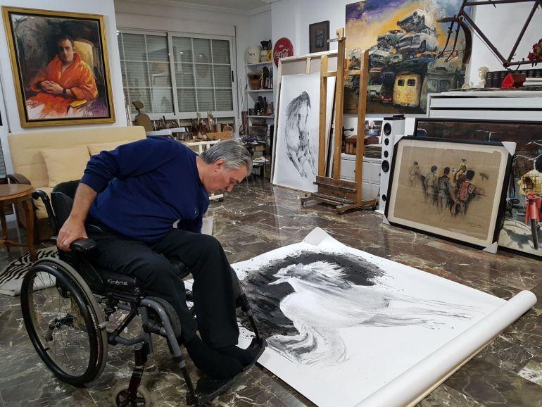 El pintor José Ángel Ramírez Cuenca, albaceteño reconocido en Madrid