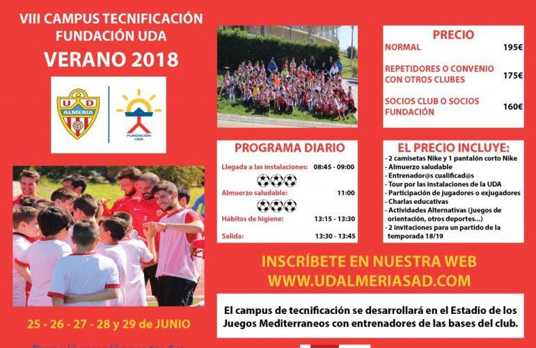 Cartel del Campus de Tecnificación.