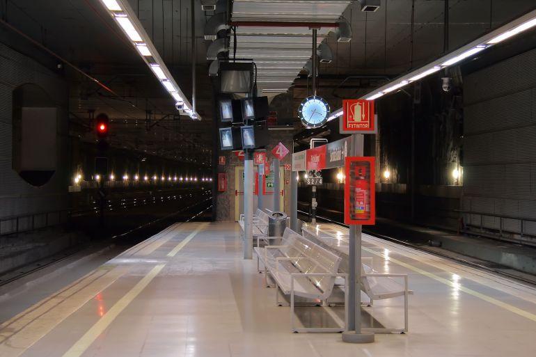 L'estació de rodalies del Prat del Llobregat