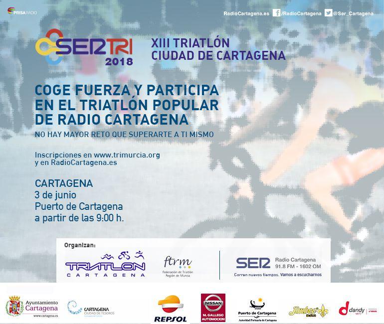 Vuelve el triatlón popular 'SERTRI-Ciudad de Cartagena', que celebra su décimotercera edición
