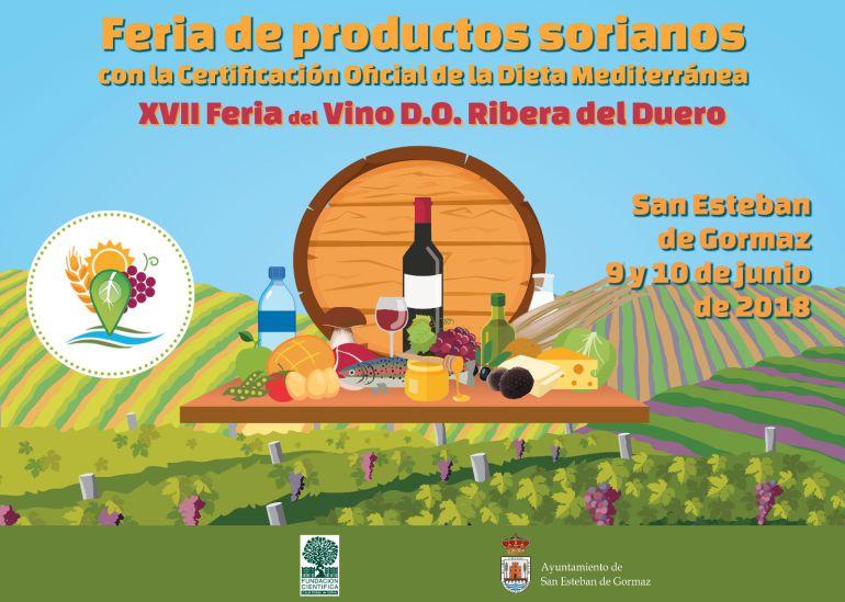 Cartel de la próxima Feria de productos sorianos del próximo 9 y 10 de junio.