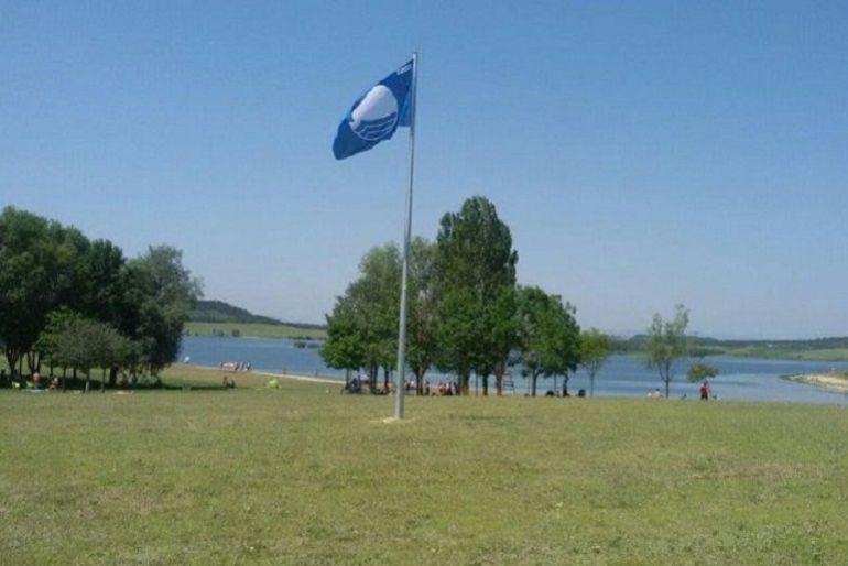 Bandera azul en Garaio