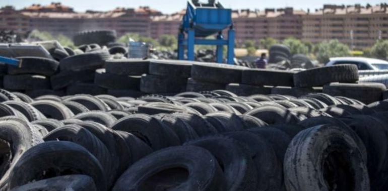 Imagen de archivo del vertedero de neumáticos de Seseña