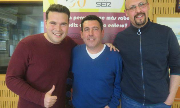 Roberto Gómez, José Manuel Córdoba y Antonio Caro