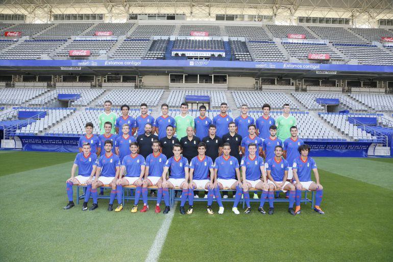 Plantilla del Real Oviedo Vetusta de la temporada 2017-2018.