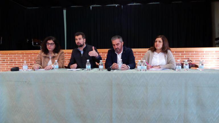 Luis Tudanca en su primera visita a la Ribera del Duero como candidato a la presidencia de la Junta en las elecciones de 2019