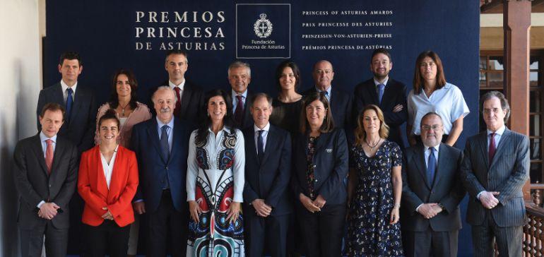 Miembros del jurado encargados de otorgar el Premio Princesa de Asturias de los Deportes 2018.