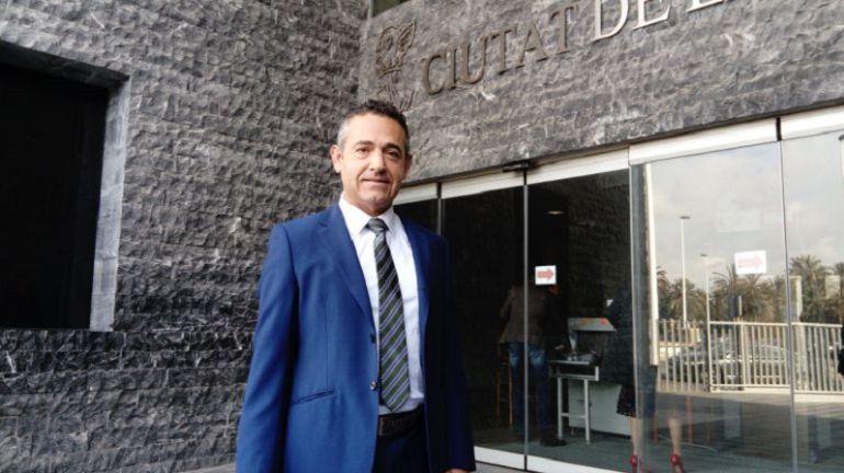 El presidente del Elche, Diego García, en los Juzgados de Elche