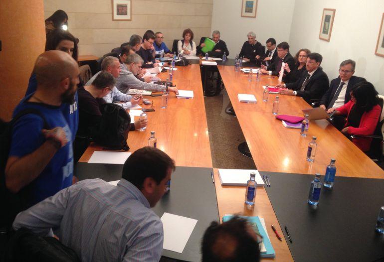 Mesa sectorial de justicia, con Xunta y sindicatos.