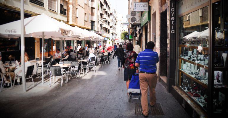 Calle San Clemente de la capital jienense.