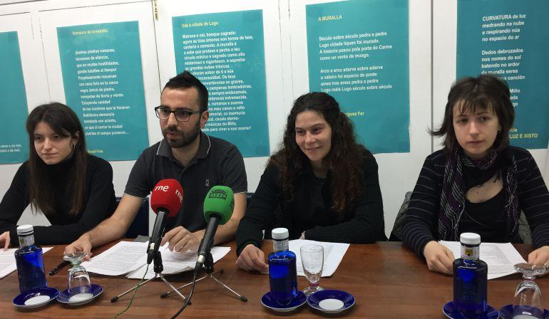 Integrantes de la Plataforma Lugo Sen Mordazas