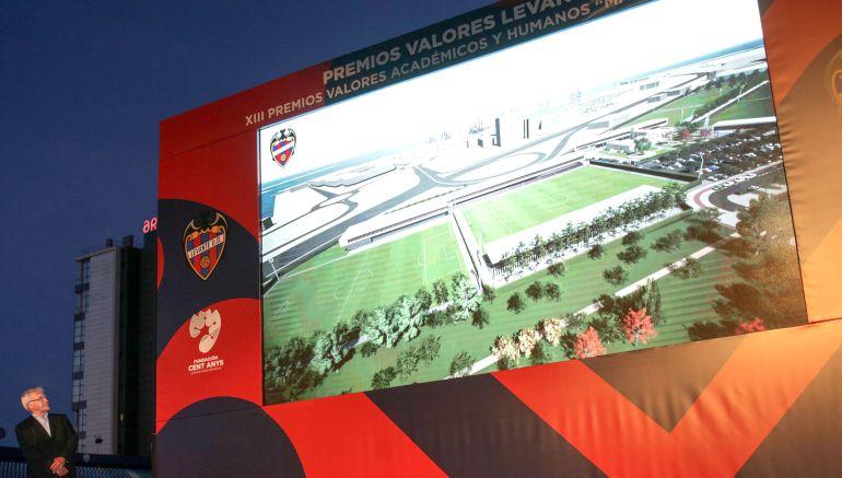 Maqueta de la futura Ciudad Deportiva del Levante