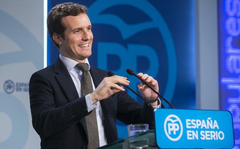 El dirigente del PP, Pablo Casado.