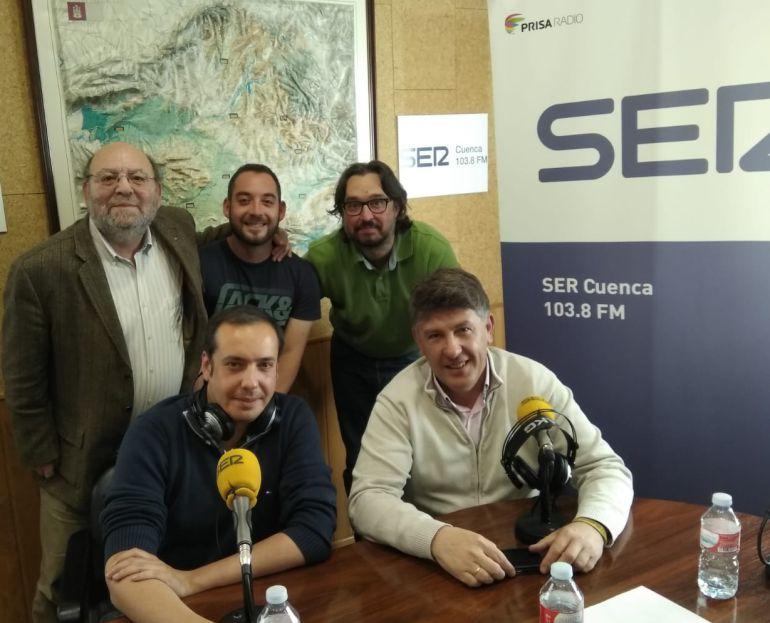 José Luis Pinós, Alfonso Fernández, Fran Álvaro, Luisja García y Luis San Juan
