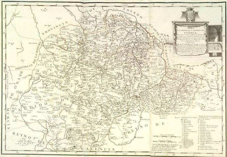 Mapa de la provincia de Cuenca y Obispado. 1766.