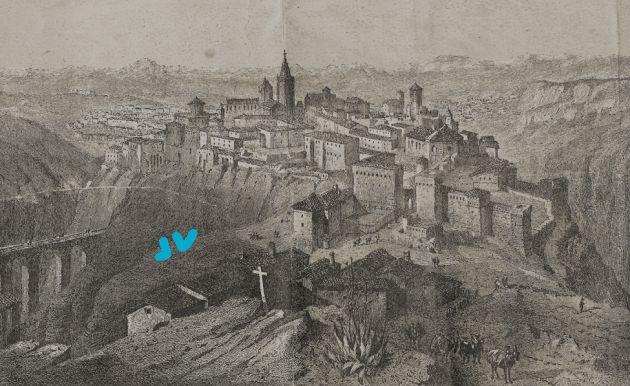 Cuenca , 1851, grabado de Emile Rouargue.