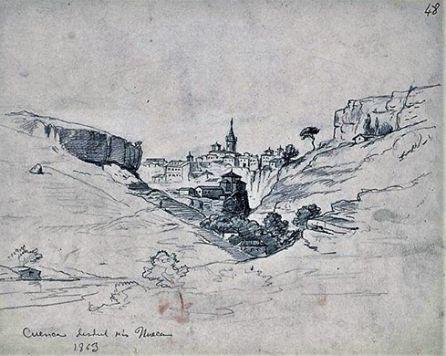 Dibujo de Cuenca de 1863.