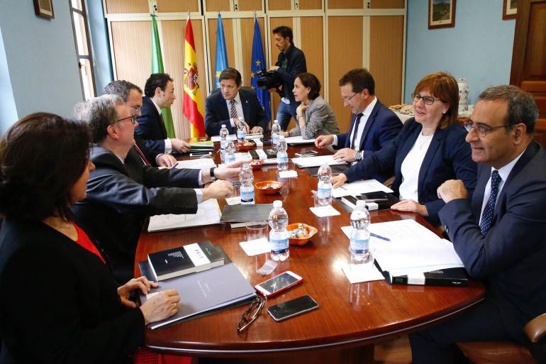 El consejo de gobierno se reunión este jueves,de manera excepcional, en el ayuntamiento de Santo Adriano.