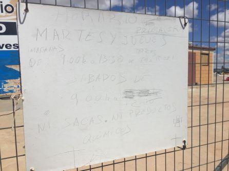 IU-Ganemos Pedroñeras pide ajustar el horario del punto limpio a la demanda