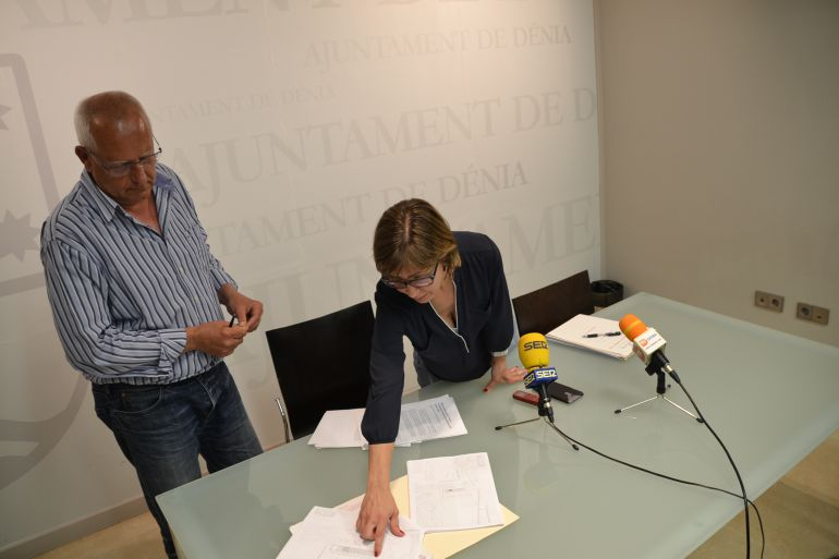 El alcalde de Dénia, Vicent Grimalt y la concejala de Territorio y Calidad Urbana, Maria Josep Ripoll.
