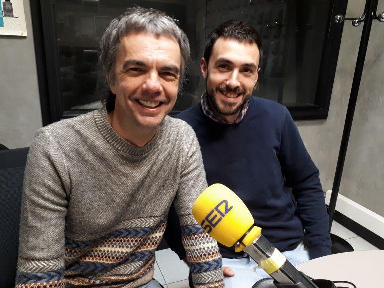 Mikel Areitioaurtena y Javier Gragera, integrantes de la compañía Lekim Animaciones