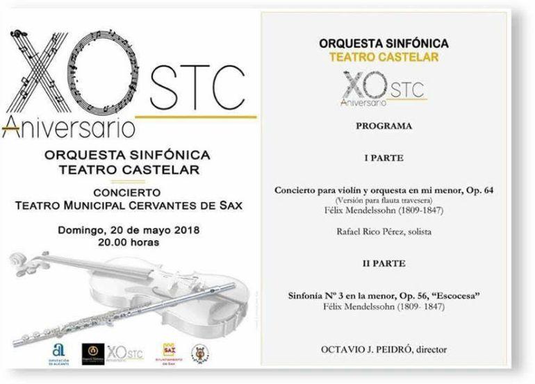 Concierto de la Orquesta Sinfónica Teatro Castelar en Sax