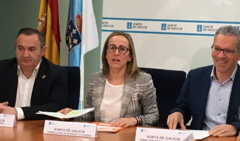 ethel Vázquez dando cuenta del impacto del Plan de Transporte metropolitano en Lugo