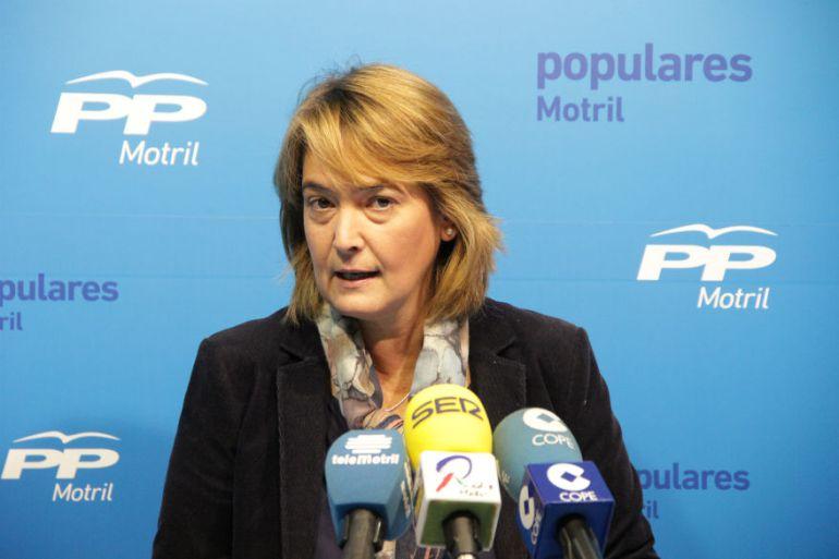 La portavoz del PP en Motril,Luisa García Chamorro