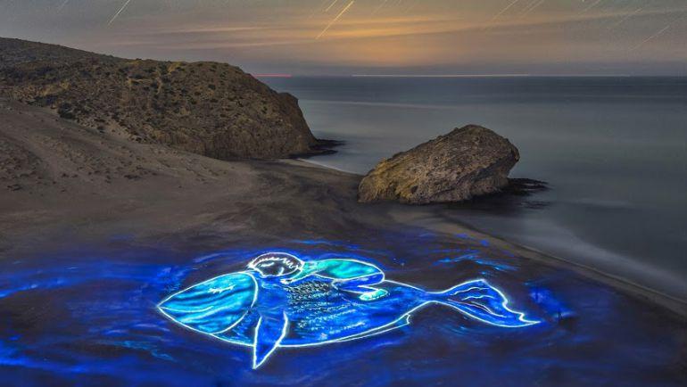 Un 'pescaito' de luz para recordar a Gabriel.