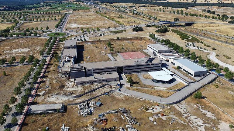Imágen aérea del Colegio Luz de Yebes