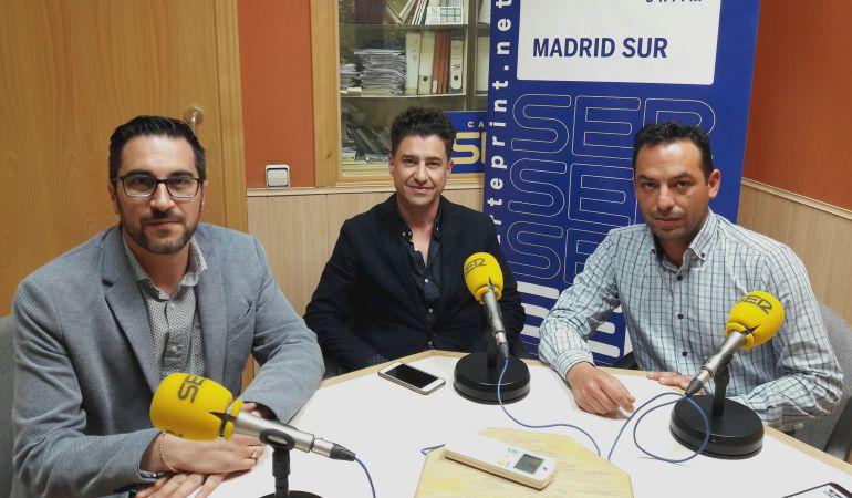 Diego Ortiz, Rubén Bejarano y José Manuel Zarzoso
