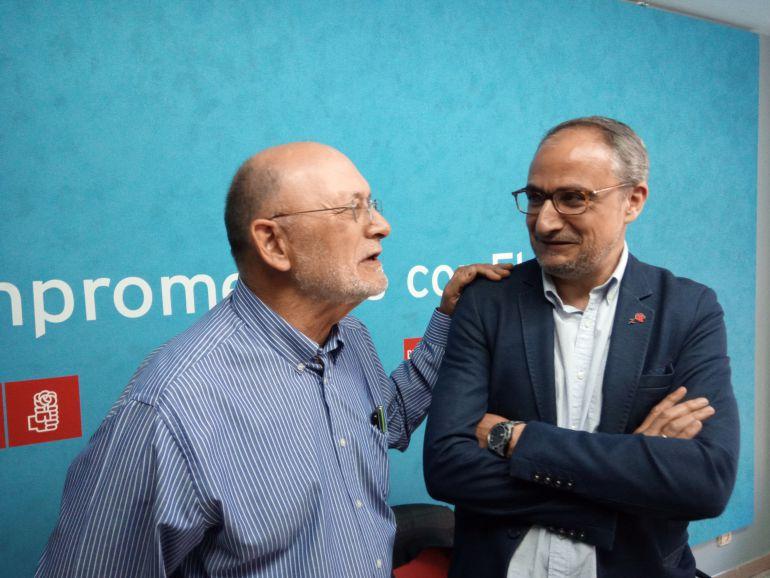 Zanca y Ramón, en la sede del PSOE