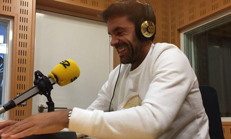 Xabi Prieto durante un momento de la entrevista en El Larguero