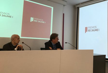 Santiago Grisolía y Javier Quesada presentan la nueva imagen de los Premios Jaume I