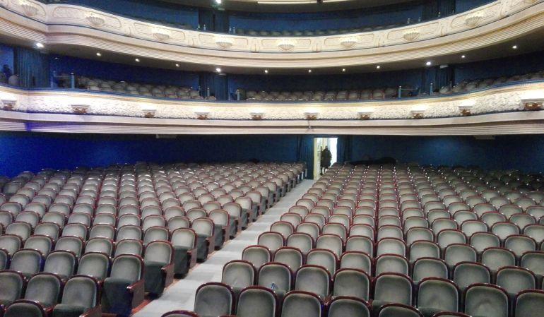 Palco de butacas en el Teatro Principal de Alicante.