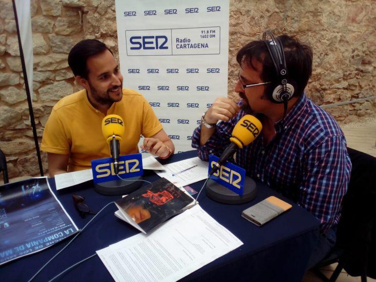 David Martínez, concejal de cultura y juventud del Ayuntamiento de Cartagena con Miguel Meroño, director-presentador de Hoy por hoy Cartagena.