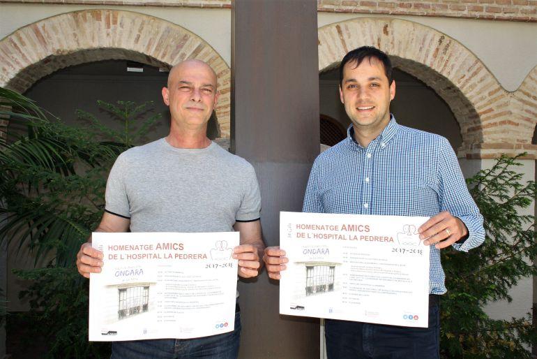 El alcalde de Ondara, José Ramiro (d) y el director del Hospital de La Pedrera, Jaume Morera (i).