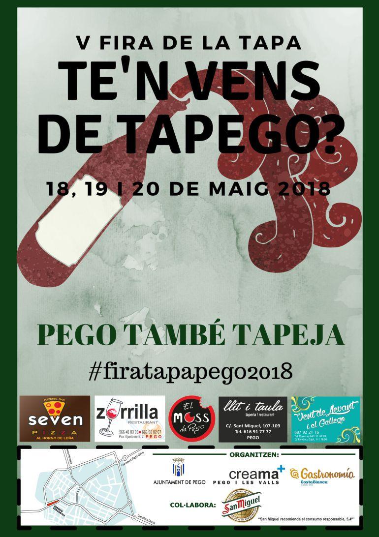 Cartel de la V Fira de la Tapa en Pego.